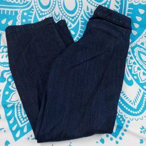 Eddie Bauer 8 Curvy Trouser Dark Blue Jeans EUC